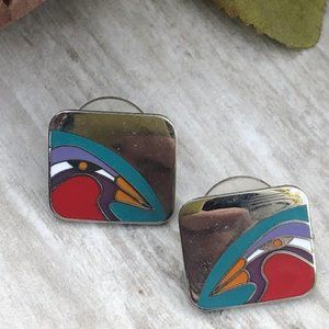 Laurel Burch Vintage Tori-Mon Bird Earrings